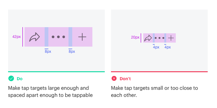 Make tap targets tappable